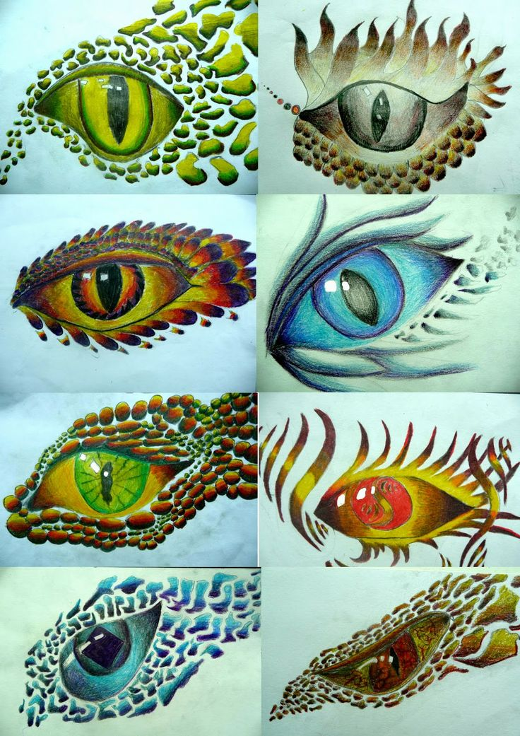 Originele manier om ogen te tekenen