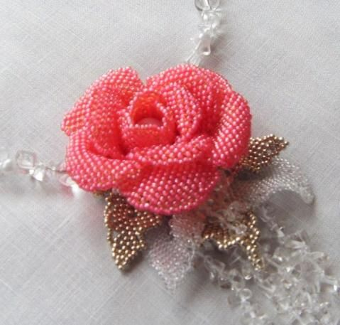 Lovely rose in beads