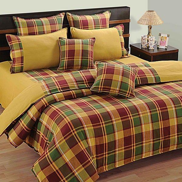 #SWAYAM #DUSTY BOX BED SHEET- LINEA #GOLD(D.NO.3221)-