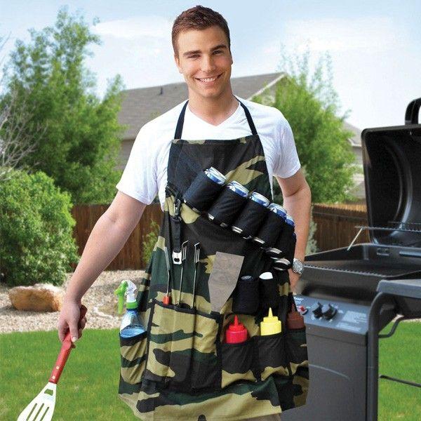 Quer que as suas festas de barbecue sejam memoráveis? Surpreenda a sua família e amigos com o avental para barbecue! Com este criativo avental terá tudo o que precisar para cozinhar e servir.