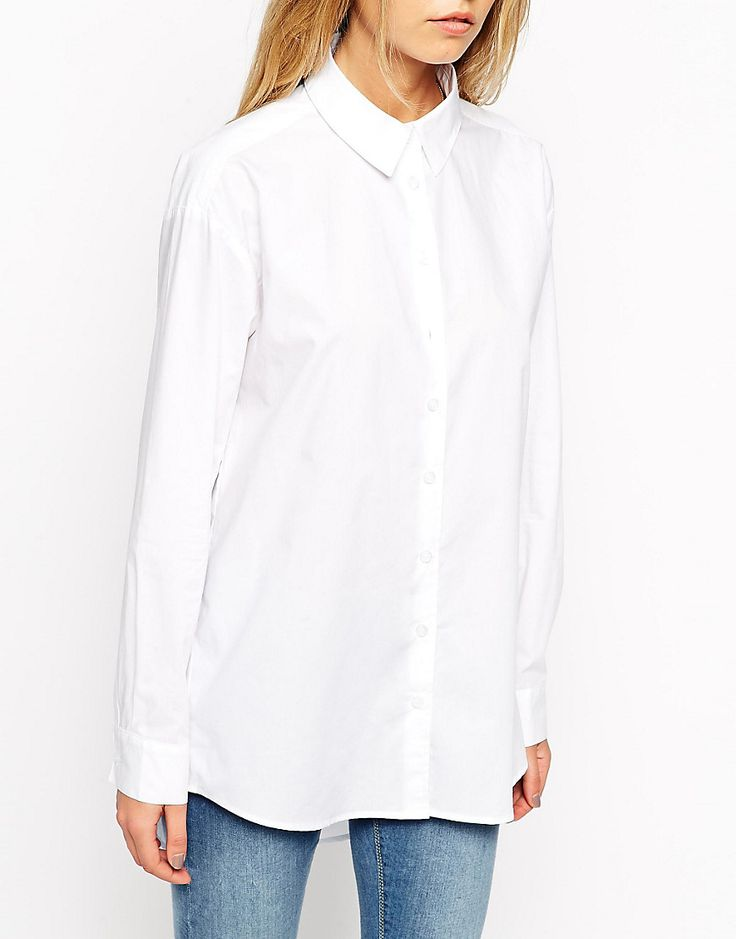 Image 3 ofASOS Smart Boyfriend White Shirt