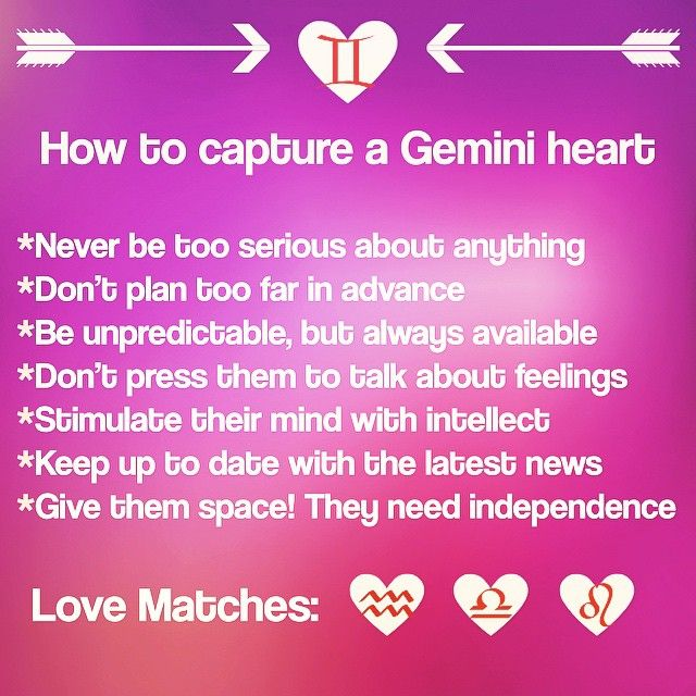 gemini best match in love Hottie material: libra you need: an steady, loving individual who ignores your dramas and tendency to be manipulative and who instead makes you laugh example: yasmin lebon, her match: simon lebon, scorpio your best bets: leo, scorpio, you understand each other, gemini, you'll never understand.