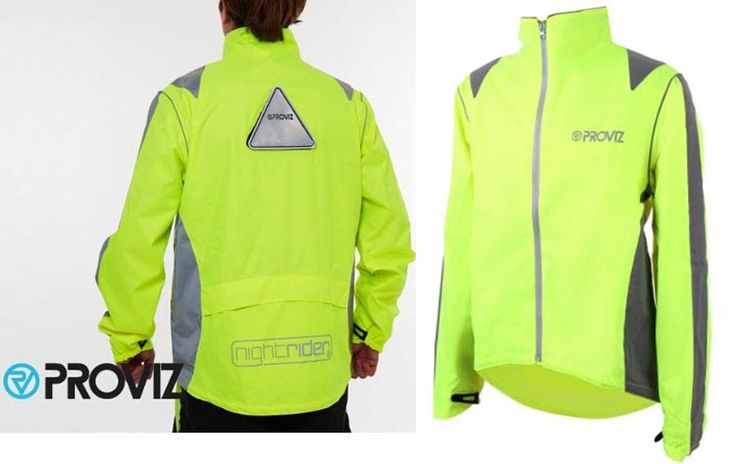 SEVEN OF THE BEST WATERPROOF CYCLING JACKETS! Here' a post all about how waterproof cycling jackets work, to help you make the best choice. Includes table comparing 7 of the best waterproof cycling jackets!. Here's the Proviz Nightrider Cycling Jacket.