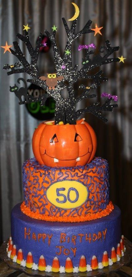 Halloween 50th Birthday Cake My Cakes 50th Birthday