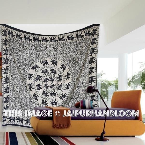 black and white elephant cheap wall tapestries Tapestry Wall Decor