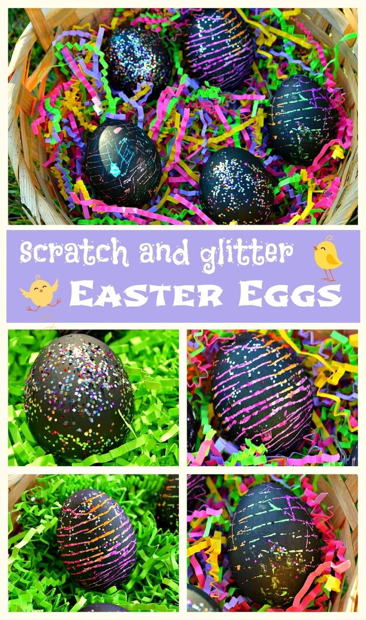 Fun Scratch and glitter eggs for Easter #eastercraftsforkids