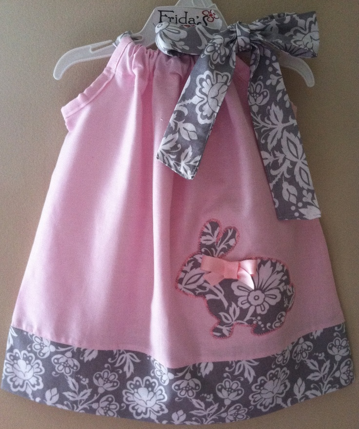 Gorgeous Bunny pastel pink pillowcase style dress by fridascloset1, $25.00