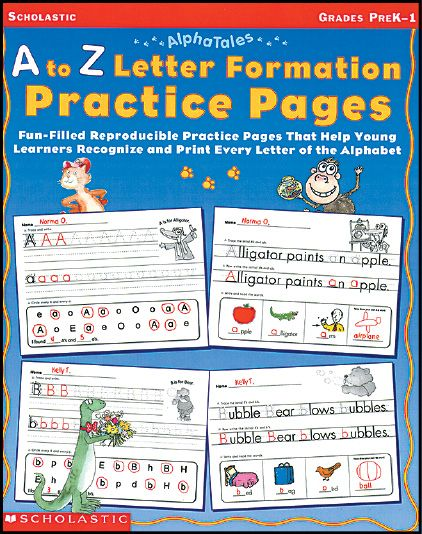 Ready-to-go, reproducible pages for tracing and printing upper and lower case letters, discriminating between similar letters, developing sight word vocabulary, and more! Find the A to Z Letter Formation Practice Pages in the Classroom Essentials Catalogue: OPUS 973108 Page 111 See the pages here: http://scholastic.ca/clubs/cec/
