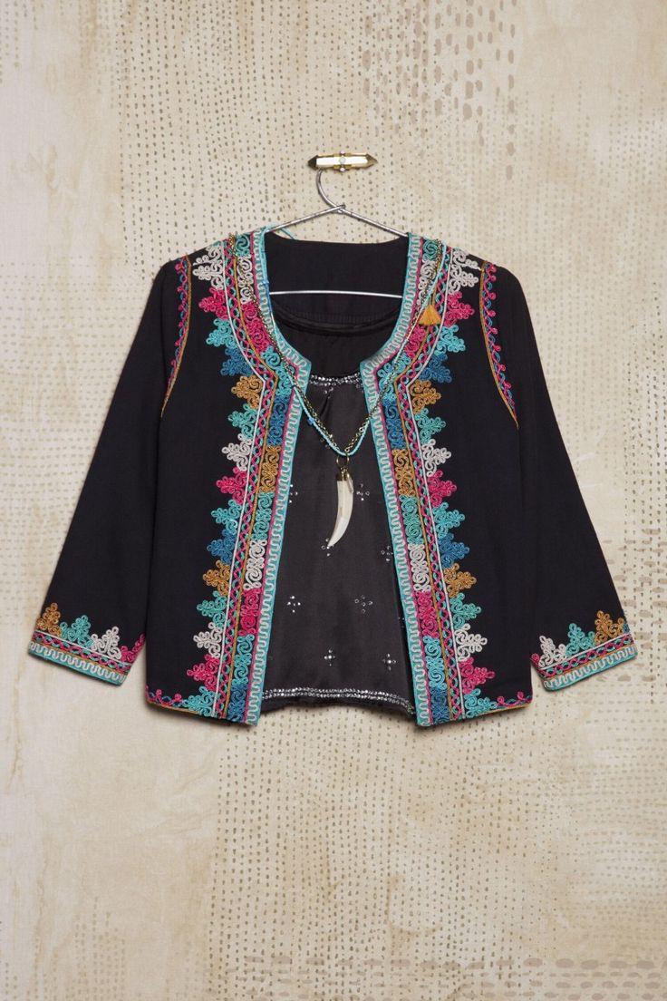 Jacket Embroidery Embellished boho ethnic Saco Reni Desai