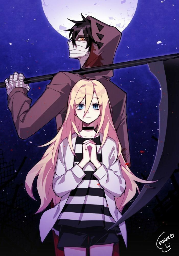 Satsuriku No Tenshi Angel Of Death Angel Of Death Anime Angel Anime Friendship