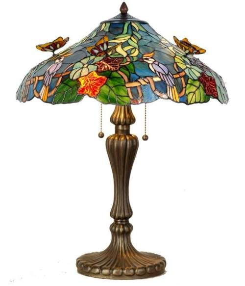 Authentic Tiffany Lamps | Tiffany table lamp Real tiffany glass Hand made Diameter 52 cm Height ...