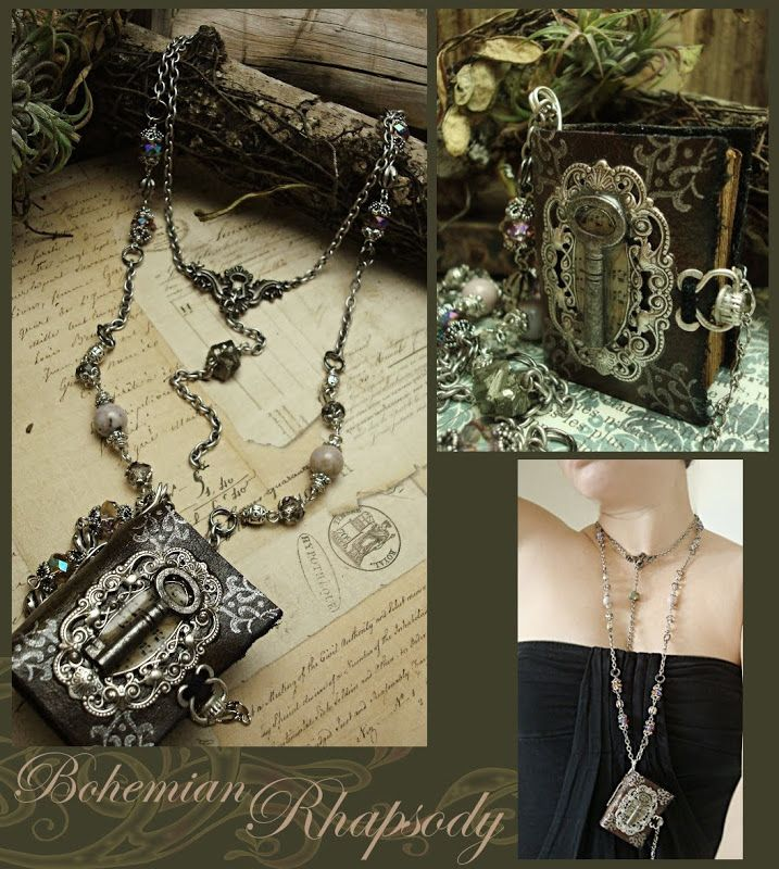 Altered Jewelry Ideas - Harry Potter Book Necklace from Altered Alchemy