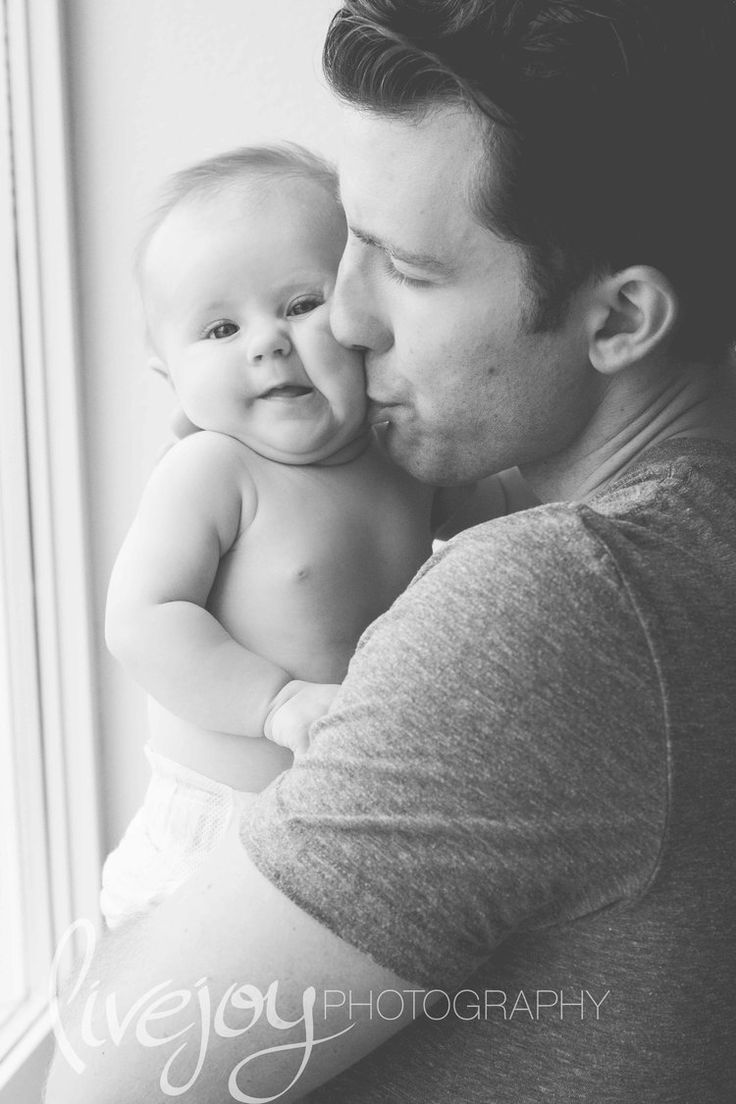 3 Month Baby Photography with Dad  / Three Month baby photos / LiveJoy Photography #3months #babyphotos #LiveJoyPhotography