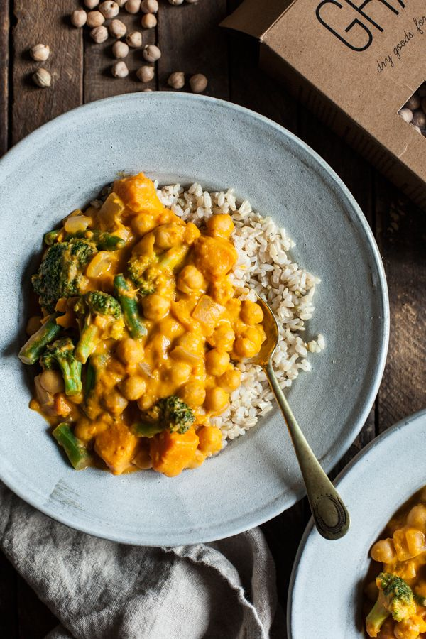 Pumpkin Chickpea Cashew Curry