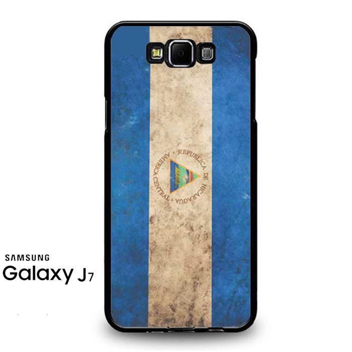 Nicaragua Flag Rough Samsung Galaxy J7 Prime Case