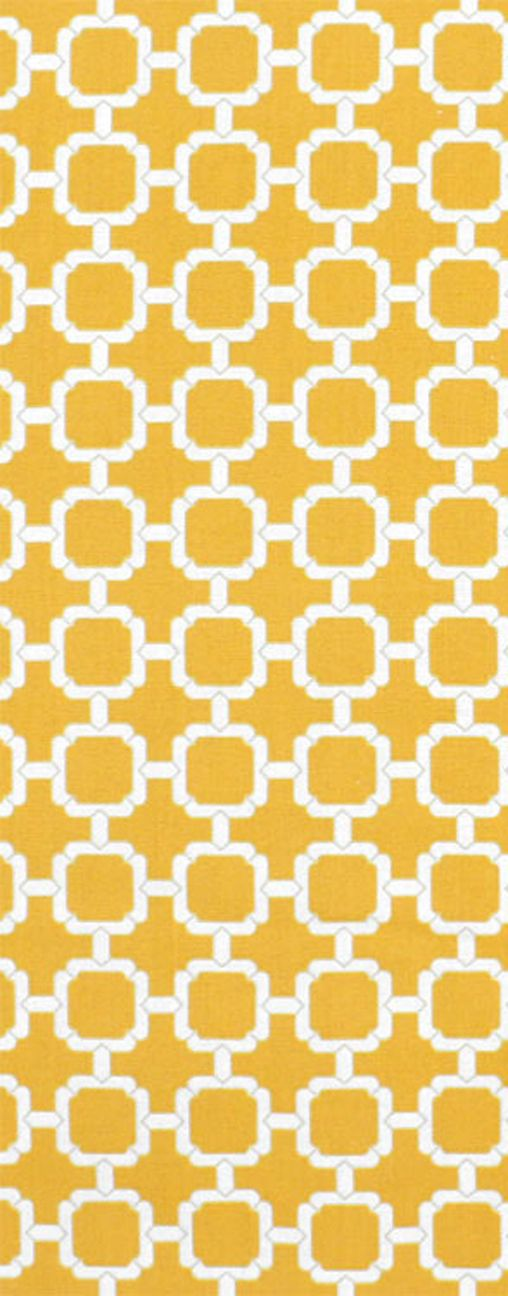 Sunny, summery Yellow and white outdoor fabric Swavelle / Mill Creek Outdoor Hockley Banana Fabric