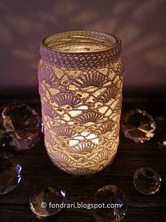 Crochet Jar Cover #2 - free pattern in English or Icelandic by Ólöf Lilja Eyþórsdóttir / Föndrari af lífi og sál