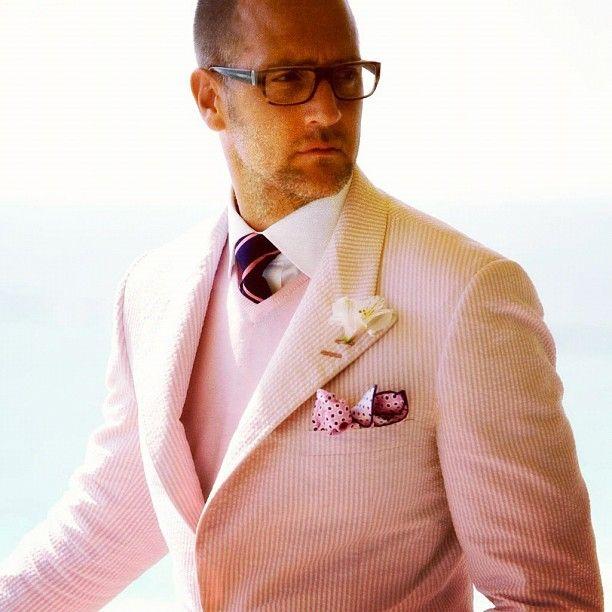 pink seersucker.: Fashion Men, Wear Pink, Pink Suits, Alexander Nash, Men Style, Men Fashion, Real Men, Men Suits, Pink Blazers