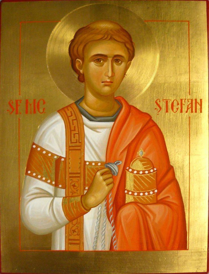 icoane bizantine: Sfantul Arhidiacon Stefan