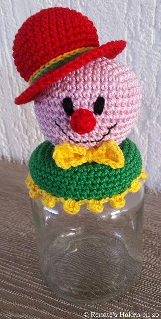 Gratis patroon potje Clown / free pattern jar with Clown