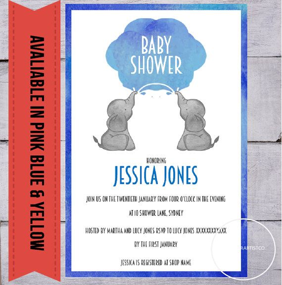 Baby shower invitation suite Games pack books by digitalsociety
