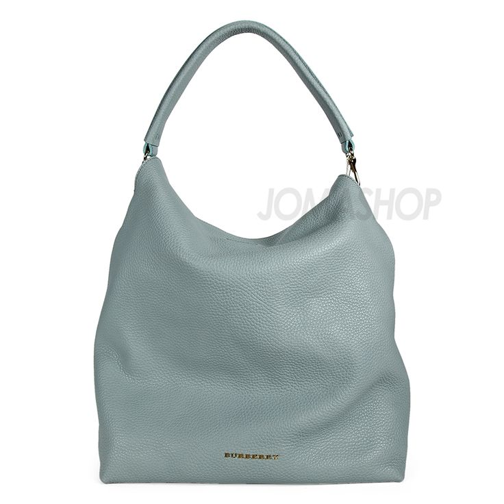 Burberry Medium Leather Hobo Bag - Sky Blue
