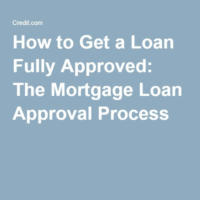 How To Get A Loan Fully Approved The Mortgage Loan Approval Process Mortgage Loans Mortgage Process Refinance Mortgage