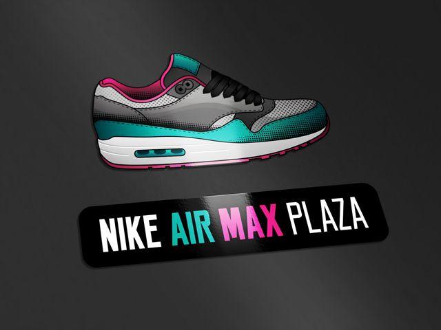 Logo design shoe Nike Air Max Plaza - www.logokoning.nl - #logodesign