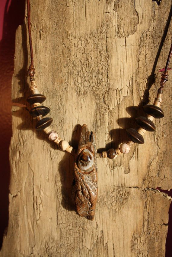 one of a kind necklace handmade with natural Blossom by TribeAll
