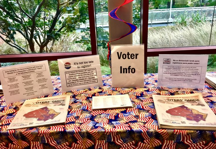 Early Voting display at #OlneyLibrary spreads the word about the option to register in person at Maryland Early Voting locations.