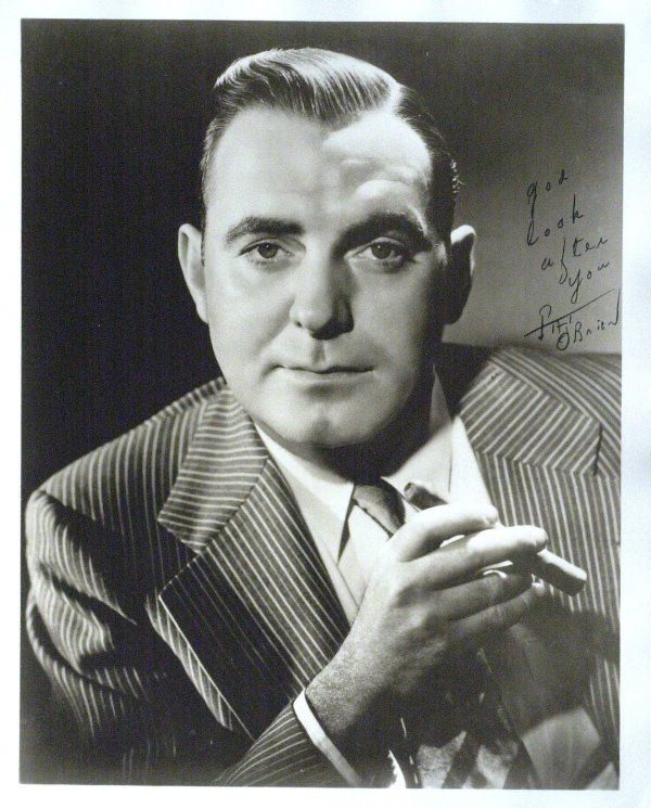 Actor, S2c Pat O'Brien US Navy (Served 1918-1921) Short Bio: Like most Americans, Bill O'Brien and his friends were outraged by the sinking of the Lusitania in May 1915. As America entered the war he, together with his boyhood friends Spencer and Carroll Tracy, joined the navy. He went on active duty in August 1918. Pat also served with Benjamin Kubelsky (Jack Benny) at Great Lakes Naval Station during World War I. O'Brien was honorably discharged as a Seaman 2nd Class in 1921.