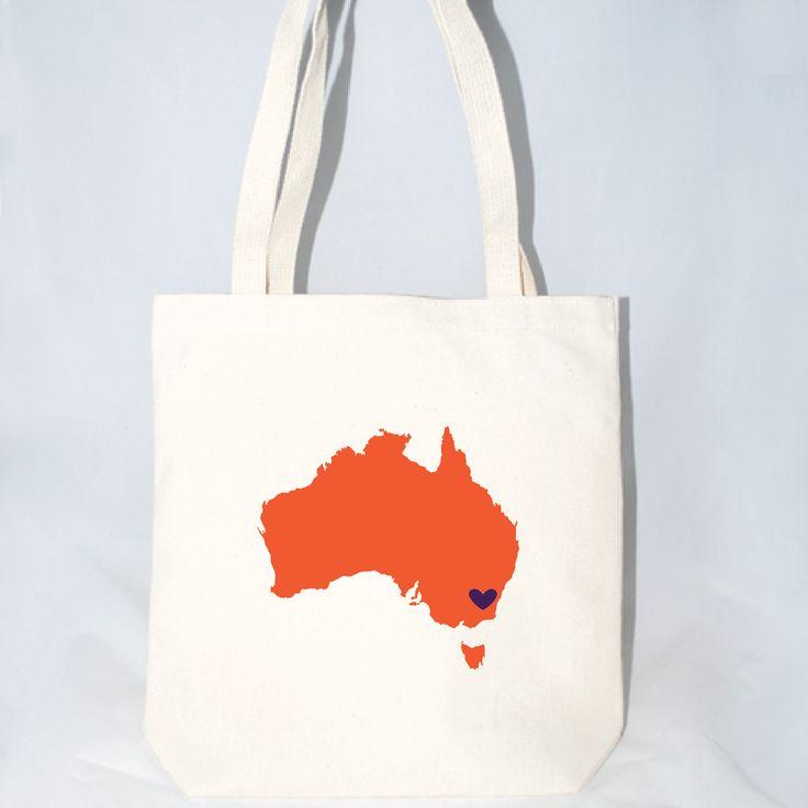 Australia Destination Wedding Totes - Large