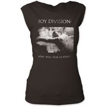Joy Division Love Will Tear Us Apart Album Cover Artwork Women's Black Sleeveless Vintage T-shirt