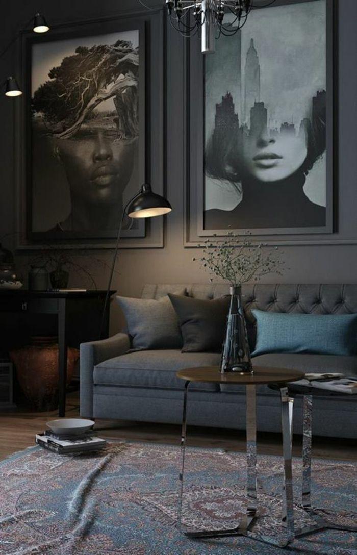 Deco Murale, Idee Deco Mur, Intérieur Sombre Et Mystérieux, Lumière  Discrète Du0027