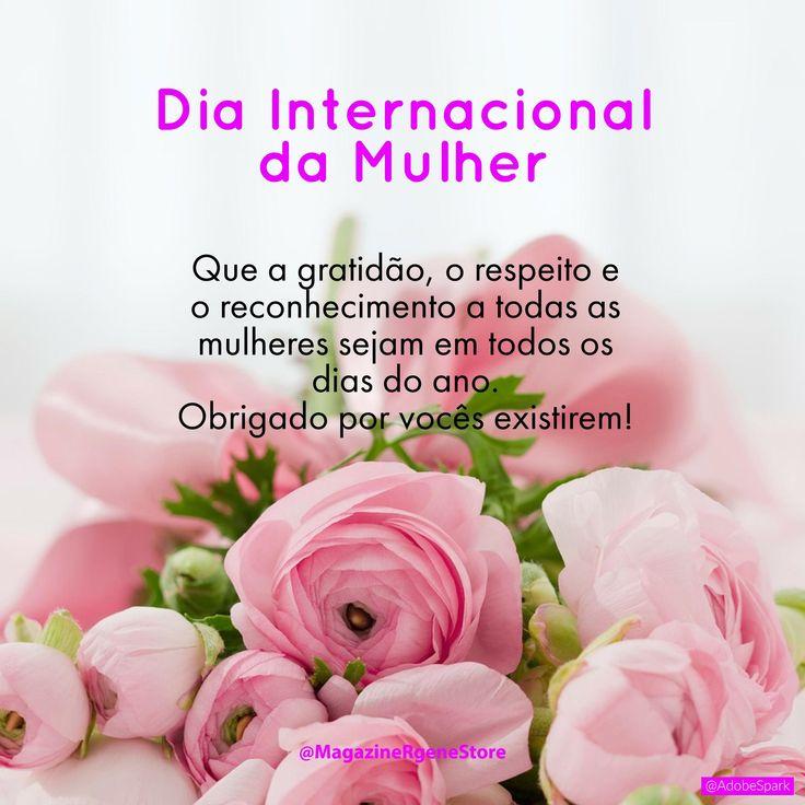 Feliz dia Internacional da Mulher! Parabéns a todas Mulheres!  #Vemserfeliz #Felicidade #Família #Amigos #DiadaMulher #Mulheres #VivaVida #Gratidão  by @MagazineRgeneStore in https://spark.adobe.com/post/lTw2g5HVTtP8g/