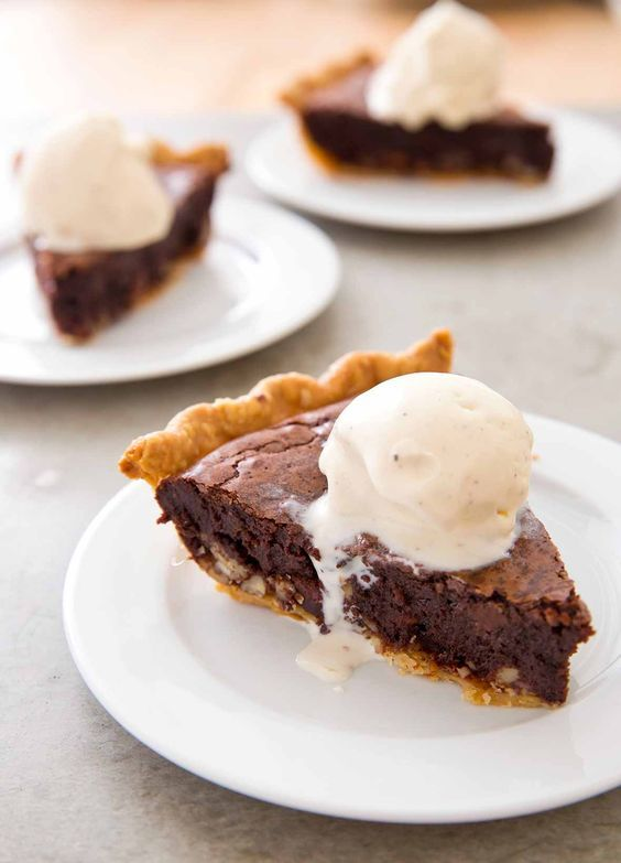 Brownie Pie Recipe (Brownie pie is known in some parts as tar heel pie. Whatever you care to call this it's essentially a rich gooey chocolate fudge pie made from scratch.)