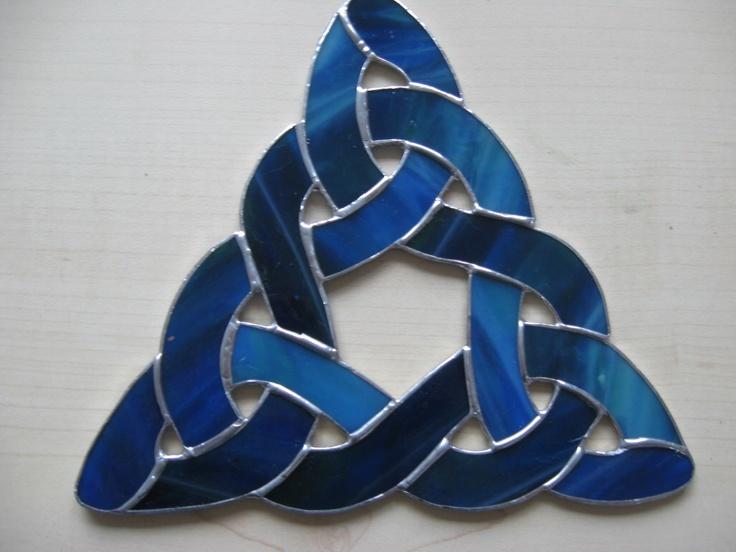 keltische knoop van tiffany/glas in lood  handgemaakt