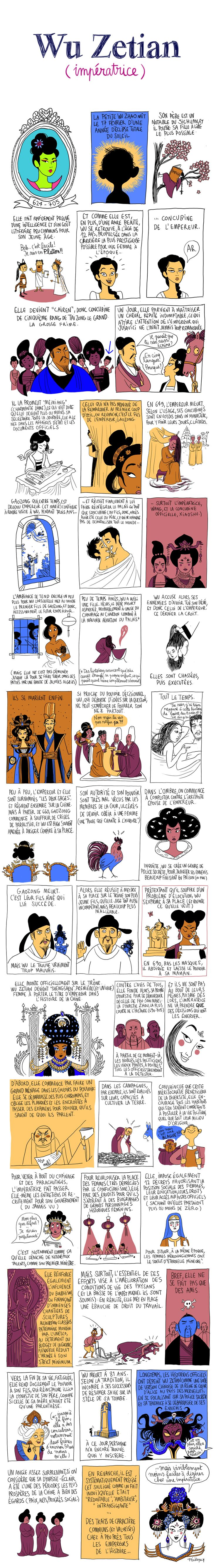 L'histoire de l'impératrice Wu Zetian, dessinée par Pénélope Bagieu