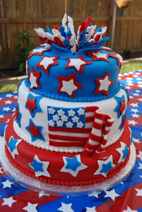 Fondant Cake 4th Of July Fun Pinterest Cakes Fourth