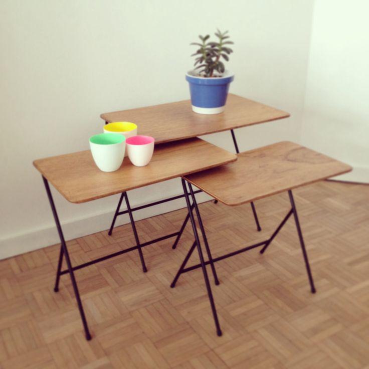 Rare wooden Pilastro nesting table Soon @ www.mrfrisko.com