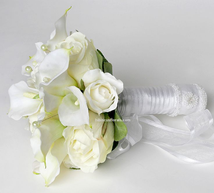 Artificial Bridal Bouquet White : Images wedding bouquets white real touch calla lilies