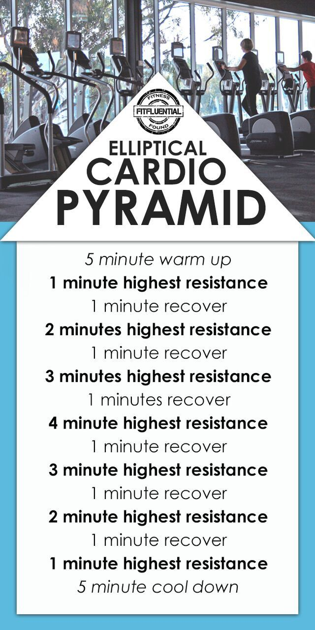 Cardio workout - 50 minute elliptical pyramid