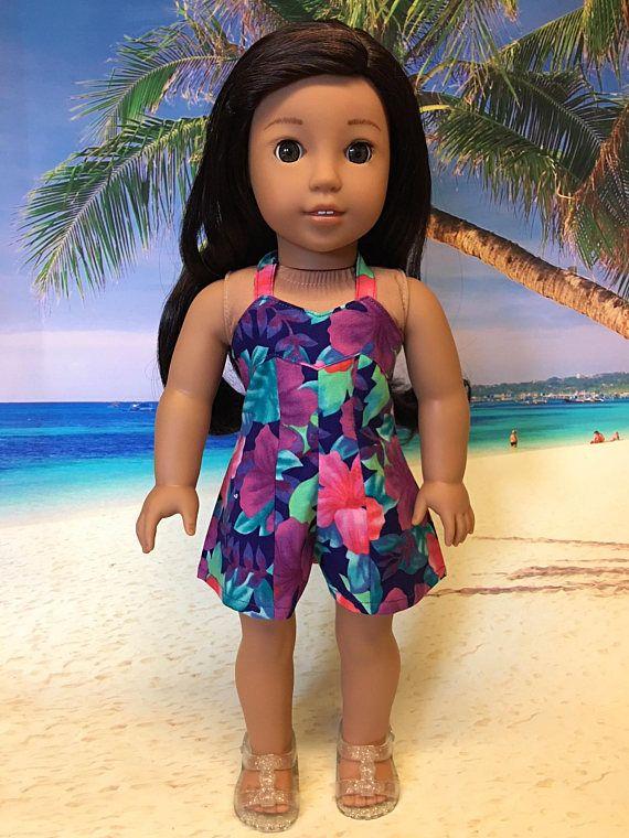 Hawaiian Romper fits American Girl Doll and 18 inch dolls