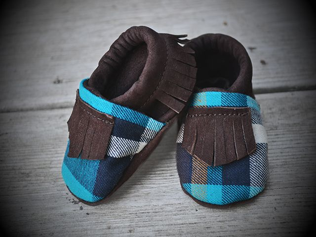 Tomahawks - The Fisher mocs in blue plaid