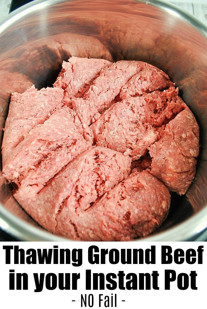 Instant Pot Frozen Ground Beef Can Be Thawed And Cooked In No Time At All If You Re Forgetful Like Instant Pot Instant Pot Recipes Instant Pot Dinner Recipes