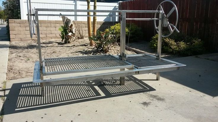 Santa Maria Drop In Frame BBQ Grill 100% Stainless, Dual Crank