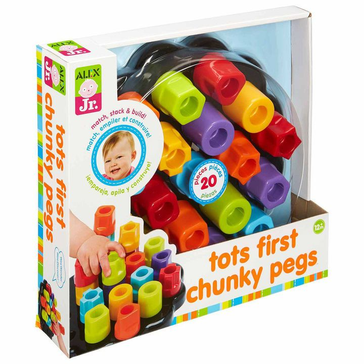 ALEX TOYS Alex Toys Alex Jr Tots First Chunky Pegs 20-pc. Interactive Toy