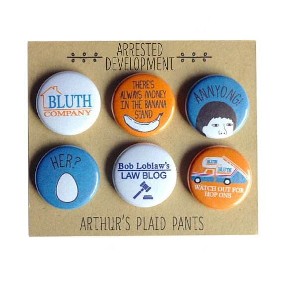 Arrested development  deluxe badges by Arthur's Plaid Pants  © Arthur's Plaid Pants
