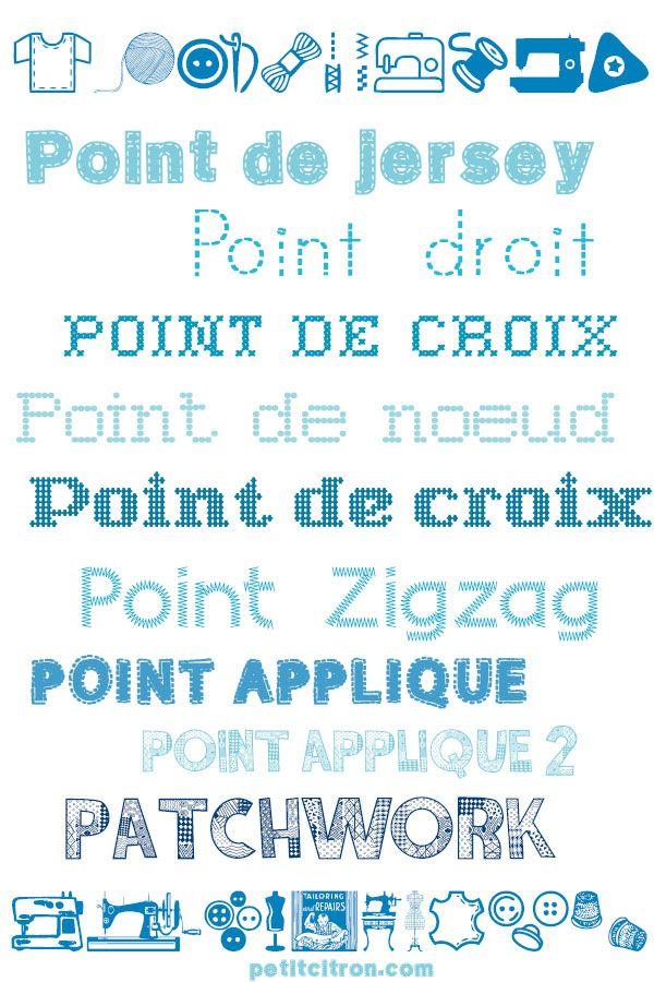 Ecrivez en brodant ! 10 polices de caractères gratuites pour les fans de couture - Blog de Petit Citron Blog de Petit Citron