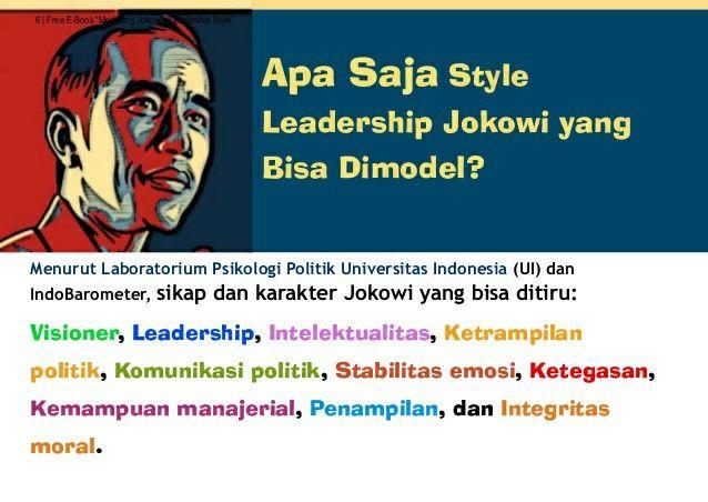 Leadership dan karakter Jokowi